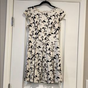 French Connection White/Black Pattern Dress